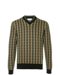 Jersey de pico estampado amarillo de Cerruti 1881