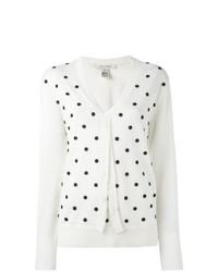 Jersey de pico estampado blanco de Marc Jacobs