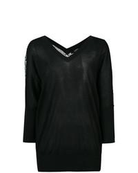 Jersey de pico estampado en negro y blanco de Derek Lam