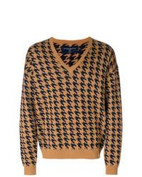 Jersey de pico estampado marrón claro