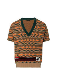 Jersey de pico estampado marrón