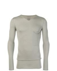 Jersey de pico gris de Rick Owens