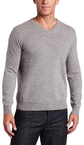 Jersey de pico gris de Williams Cashmere