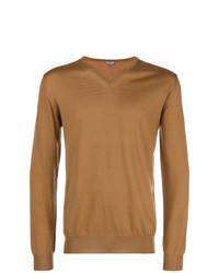 Jersey de pico marrón claro de Lanvin