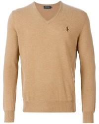 Jersey de pico marrón claro de Polo Ralph Lauren