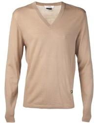 Jersey de pico marrón claro de Versace