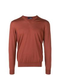 Jersey de pico marrón de Lardini