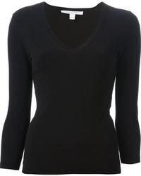 Jersey de pico negro de Diane von Furstenberg