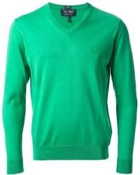 Jersey de pico verde de Armani Jeans
