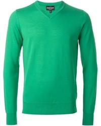 Jersey de pico verde de Emporio Armani