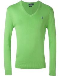 Jersey de pico verde de Polo Ralph Lauren