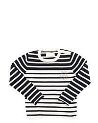 Jersey de rayas horizontales blanco