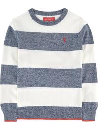 Jersey de rayas horizontales en blanco y azul