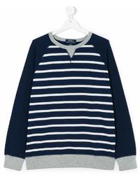 Jersey en azul marino y blanco