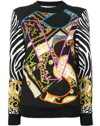 Jersey Estampado Negro de Versace