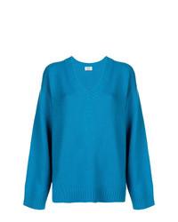 Jersey oversized azul de Prada