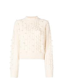 Jersey oversized blanco de MAISON KITSUNE