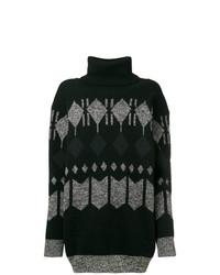 Jersey oversized con estampado geométrico negro de Junya Watanabe