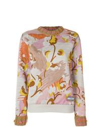Jersey oversized con print de flores en multicolor de Prada