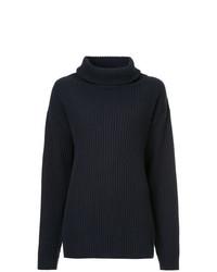 Jersey oversized de punto azul marino de The Gigi