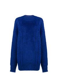 Jersey oversized de punto azul de Maison Margiela