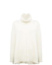 Jersey oversized de punto blanco de Adam Lippes