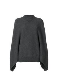 Jersey Oversized de Punto Gris Oscuro de Givenchy