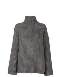 Jersey oversized de punto gris de Incentive! Cashmere