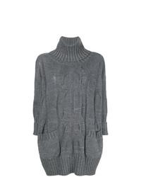 Jersey oversized de punto gris de Lorena Antoniazzi