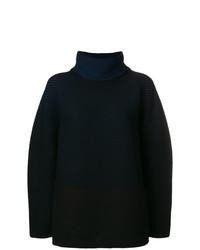 Jersey oversized de punto negro de Issey Miyake