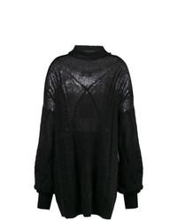 Jersey oversized de punto negro de Maison Margiela