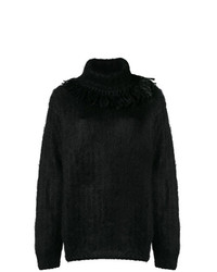 Jersey oversized de punto negro de Miu Miu