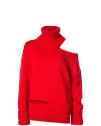 Jersey oversized de punto rojo de Monse