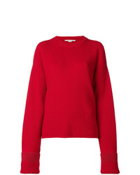Jersey oversized de punto rojo de Stella McCartney