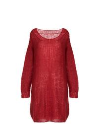 Jersey oversized de punto rojo de Uma Wang