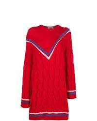 Jersey oversized de punto rojo de Vivetta