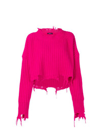 Jersey oversized de punto rosa de Diesel