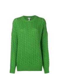 Jersey oversized de punto verde de Loewe
