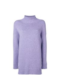 Jersey oversized de punto violeta claro de Pringle Of Scotland
