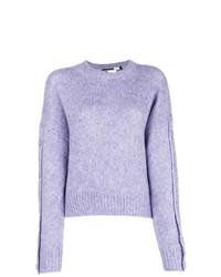 Jersey oversized de punto violeta claro de Sport Max Code