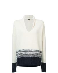 Jersey oversized de rayas horizontales en blanco y azul marino de Adam Lippes