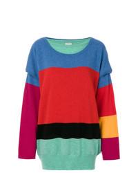 Jersey oversized de rayas horizontales en multicolor de Loewe