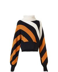 Jersey oversized de rayas horizontales en multicolor de Monse