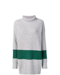 Jersey oversized de rayas horizontales gris de Calvin Klein