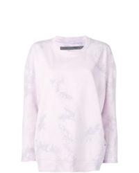 Jersey oversized efecto teñido anudado violeta claro de Raquel Allegra