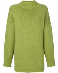 Jersey oversized en amarillo verdoso de Alexander McQueen