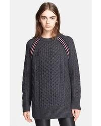 Jersey oversized en gris oscuro