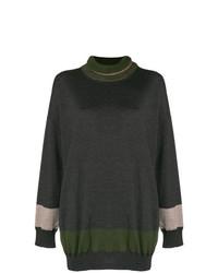 Jersey oversized en gris oscuro de Antonio Marras