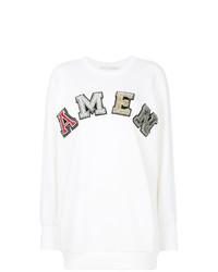 Jersey oversized estampado blanco de Amen