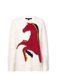 Jersey oversized estampado blanco de Derek Lam